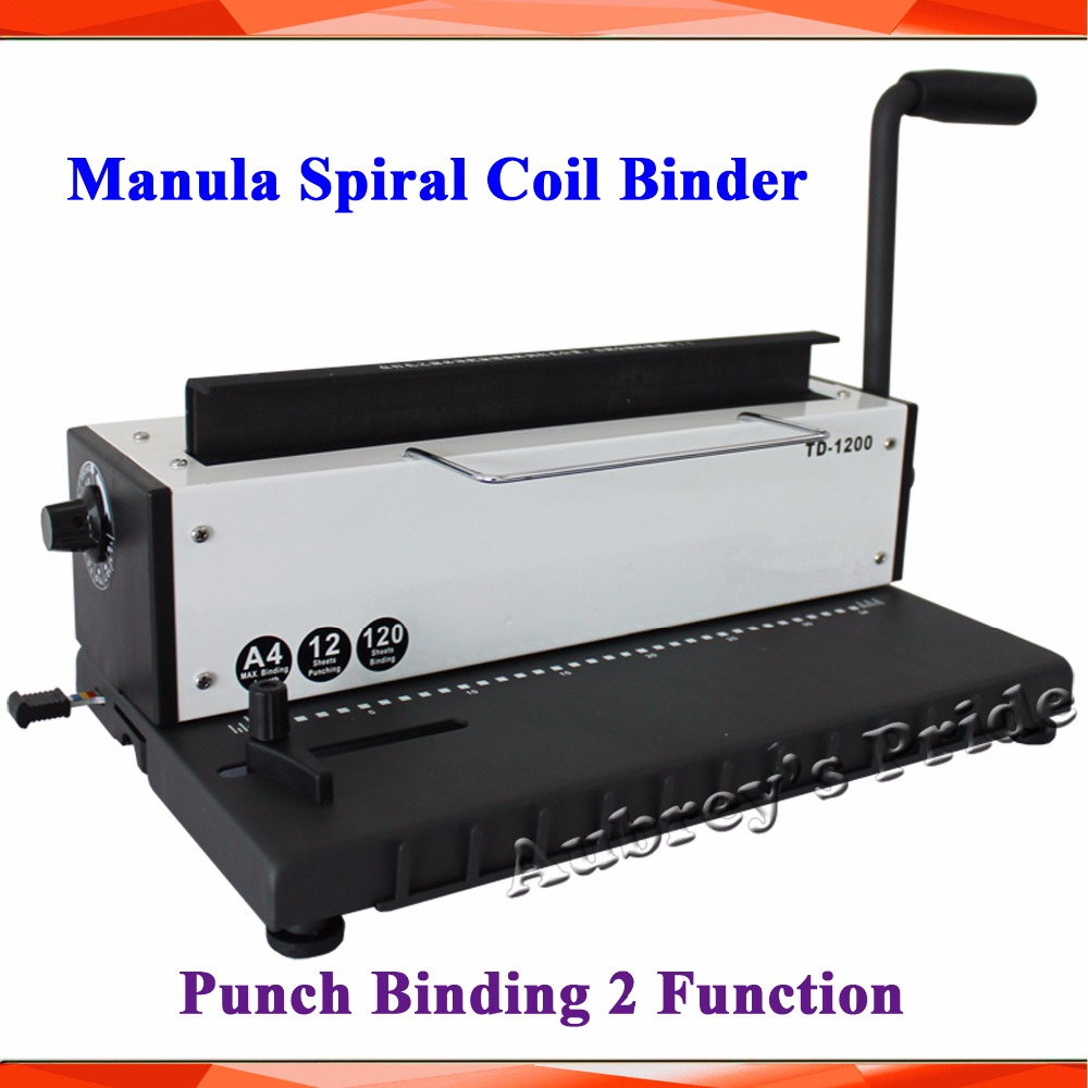 Manul All Steel Metal Spiral Coil Wire Punch Binding