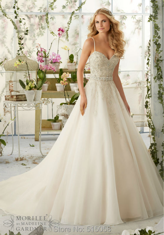 Sequin Top Wedding Dresses