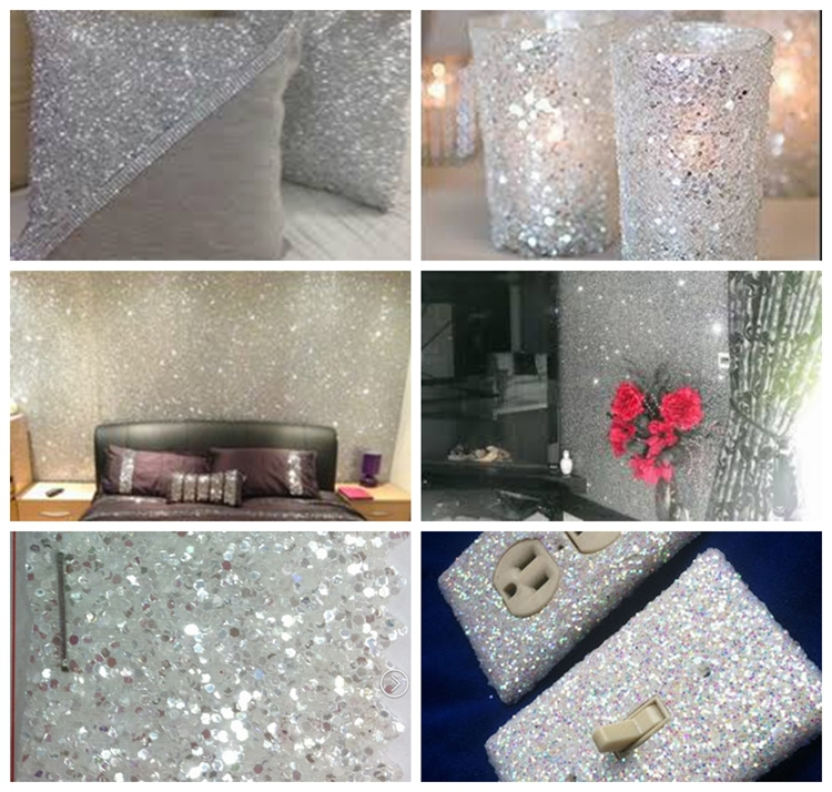 30m 54 Width Diamond White Silver Glitter Wall Covering In Wallpapers From Home Improvement On Aliexpress