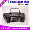 Бесплатная доставка 2 шт./лот Новый 6 глаз лазерный свет/dj свет/сценический свет/лазерный проектор