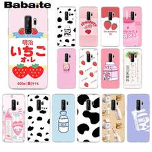 Babaite Summer Cute Strawberry Milk Newly Arrived Transparent Cell Phone Case for Samsung S9 S7 S6 S5 S8 S9 Plus S8 Plus S6 edge(China)