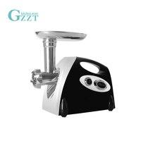 GZZT Household Electric Meat Grinder Sausage Stuffer Plastic+Cast Aluminum Kitchen Chopper Mincing Machine 3 Cutting Plates