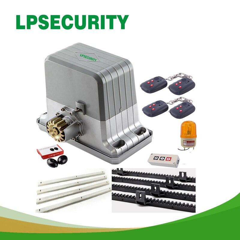 Heavy duty 1800 kg automatique portail électrique coulissant moteur ouvre 6 porte-clés 4 m/5 m racks (lampe à détecteur clavier GSM en option)