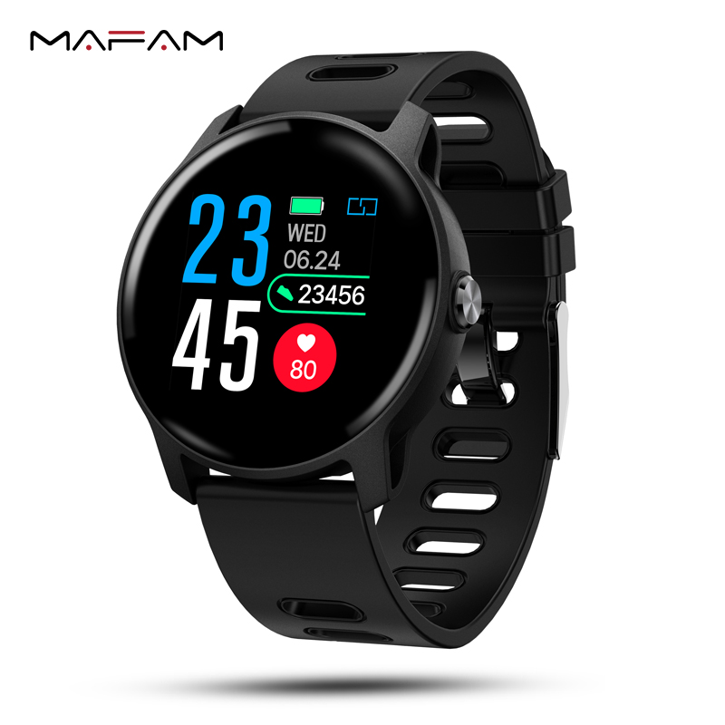 MAFAM S08 Smart Bracelet Watch Heart Rate Blood Pressure IP68 Waterproof Swimming Fitness Tracker Smart Watch For Android IOS image