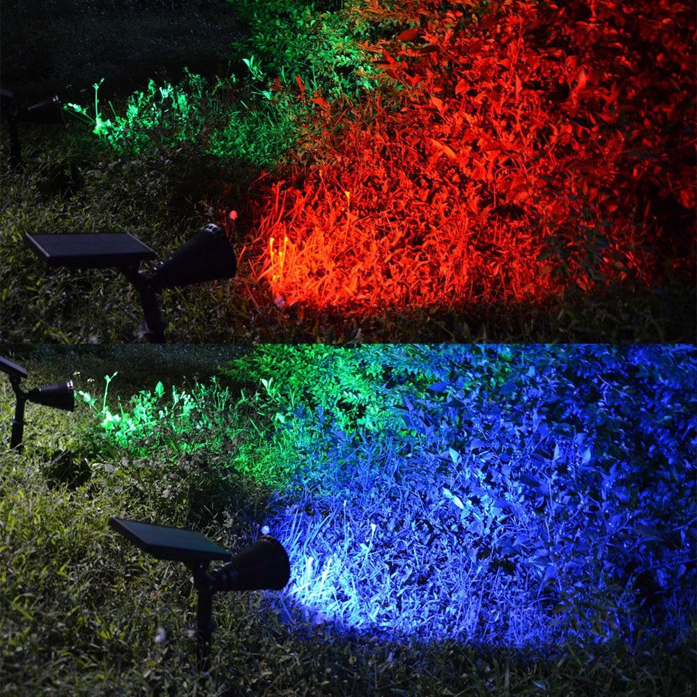 soalr luz ao ar livre 7 leds