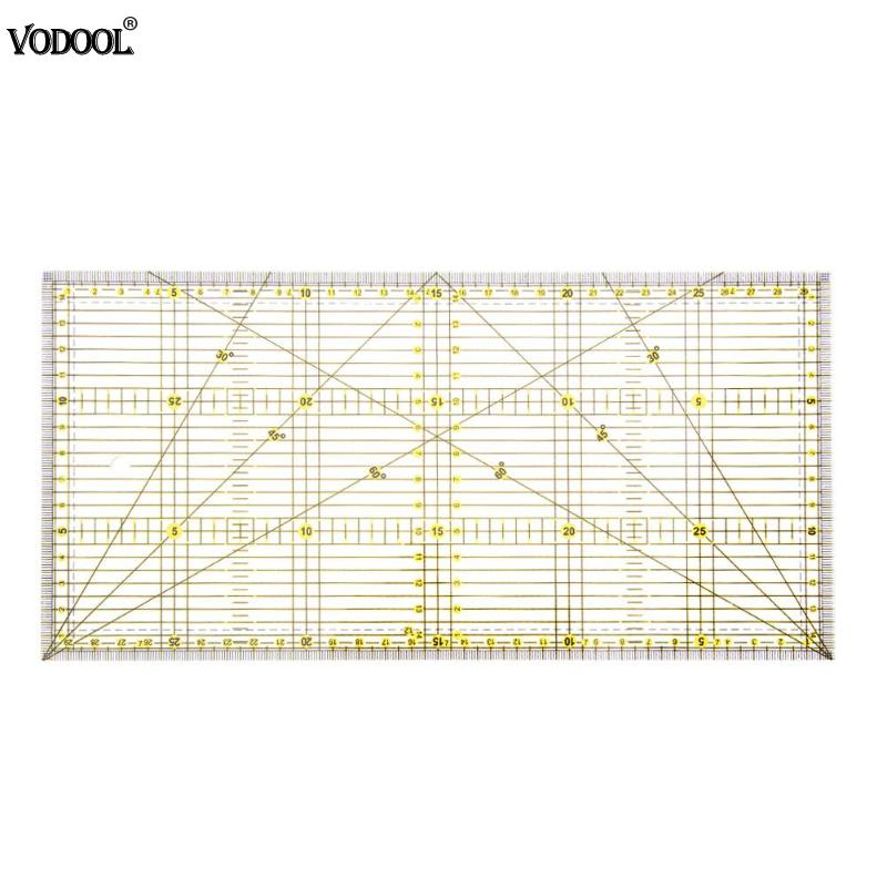 30*15cm Multi-purpose Cloth Patchwork Aligned Sewing Ruler DIY Garment Design Grid Cutting Craft Scale Rule Drawing Tools Ruler