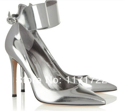 Unique designer top quality women high heel shoes pointed toe spikes high heel wedding dress shoes YP01#