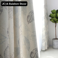 New High Quality Royal Elegant Blackout Curtains For Living Room Bedroom Thick Chenille Leaf Single Fabric Cortinas Shades Panel