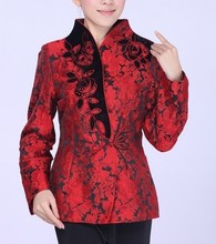 Red Fashion Chinese tradition Ladies Jacket coat Outerwear