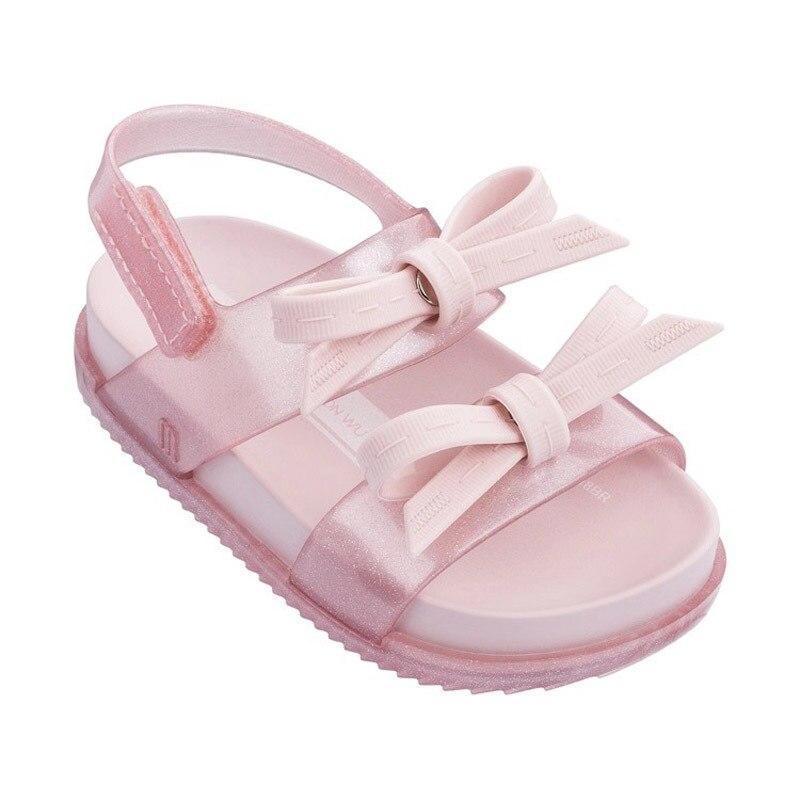 Mini Melissa Shoes 2019 Girls Sandals Summer Kids Shoes Children Jelly Sandal Jelly Shoe Girl Non-slip Kids Beach Sandal Toddler