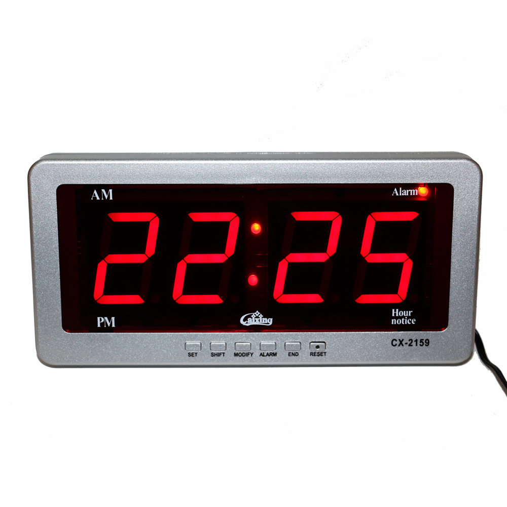Digital led alarm clock large number desk clocks electronic ac digital led alarm clock large number desk clocks electronic ac powered led wall clock red display watch modern home decoration in desk table clocks from amipublicfo Choice Image