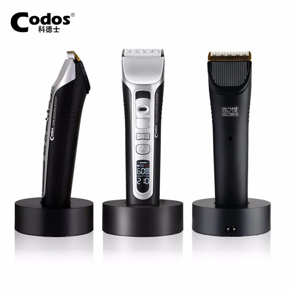 Image 4 - Codos CHC 968 Professional Hair Clipper Hair Trimmer Titanium Ceramic Blade Electric Hair Cutting Machine LCD Display 100 240V-in Hair Trimmers from Home Appliances