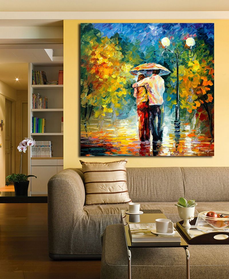 100 Handpainted Abstract Oil Painting Love Couple Canvas Painting Palette Knife Wall Art