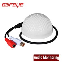 GWFEYE Audio Pick Up Mini CCTV Microphone For Camera Security RCA Audio Output
