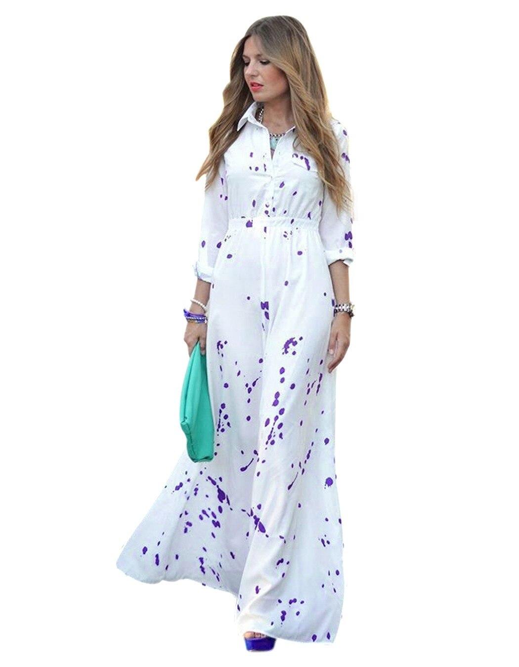 Popular Long Sleeve Maxi Shirt Dress-Buy Cheap Long Sleeve Maxi ...