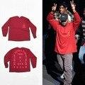 S-XXXL Yeezy de Kanye West Me Siento Como Pablo Temporada 3 de coco de manga larga T shirt