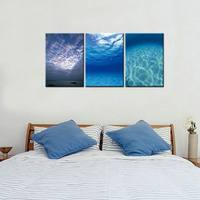 The Sky and Sea Modern Giclee Canvas Prints Artwork Abstract Landscape Modular Pictures Paintings on Canvas Wall Art Unframed