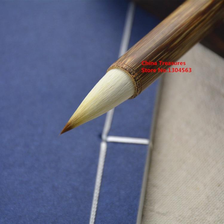 1 peca pintura pincel de caligrafia caligrafia da escova escrita chinesa zhong kai mo bi