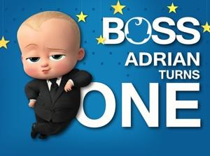 Image 2 - XQ0012 Vinyl Newborn Baby Shower Cartoon Boss Baby Backdrop Children Birthday Backgrounds For Photo Studio 220x150cm