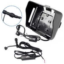 Accesorios GPS! cable de alimentación + sostenedor de la horquilla sólo apto para fodsports 4.3 pulgadas impermeable motocicleta gps de navegación