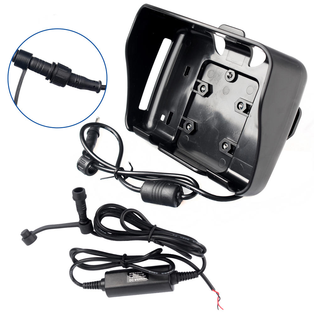 GPS accessories! Power Cable +Cradle holder Only suitable for Fodsports 4.3 inch Waterproof Motorcycle GPS Navigation