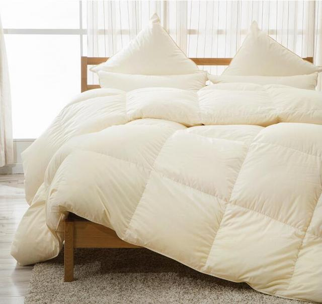 Rose Feather Real 100 White Duck Down Comforter Winter Duvet Warm Light Weight 15tog 700