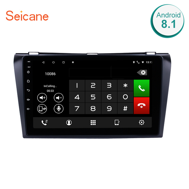 "Seicane 9"" Quad Core 1024*600 Multi-touch Android 7.1/8.1 Bluetooth GPS System Car Radio for Mazda 3 2004 2005 2006 2007-2009"