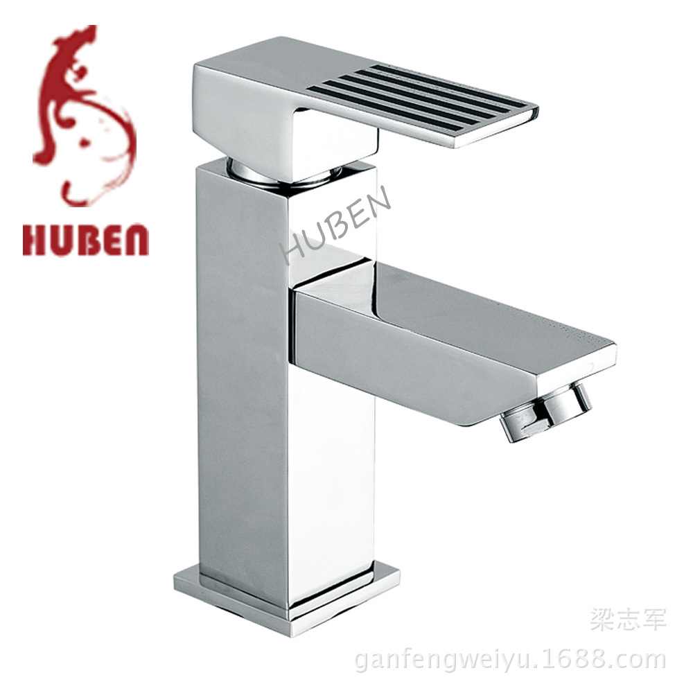 Tiger ran counter basin faucet bathroom single handle hole hot and cold all-copper base vanity basin taps