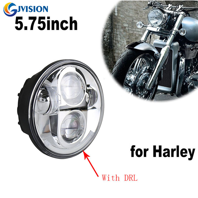 Harley 5.75 led headlight High/Low beam Angel eyes 5 3/4 inch led headlamp motorcycle Driving light for Harley FX Softail Dyna