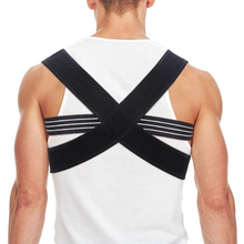 New Adjustable Back Support Brace Straightener Upper Shoulder Spine Belt Posture Corrector Unisex X-Shape