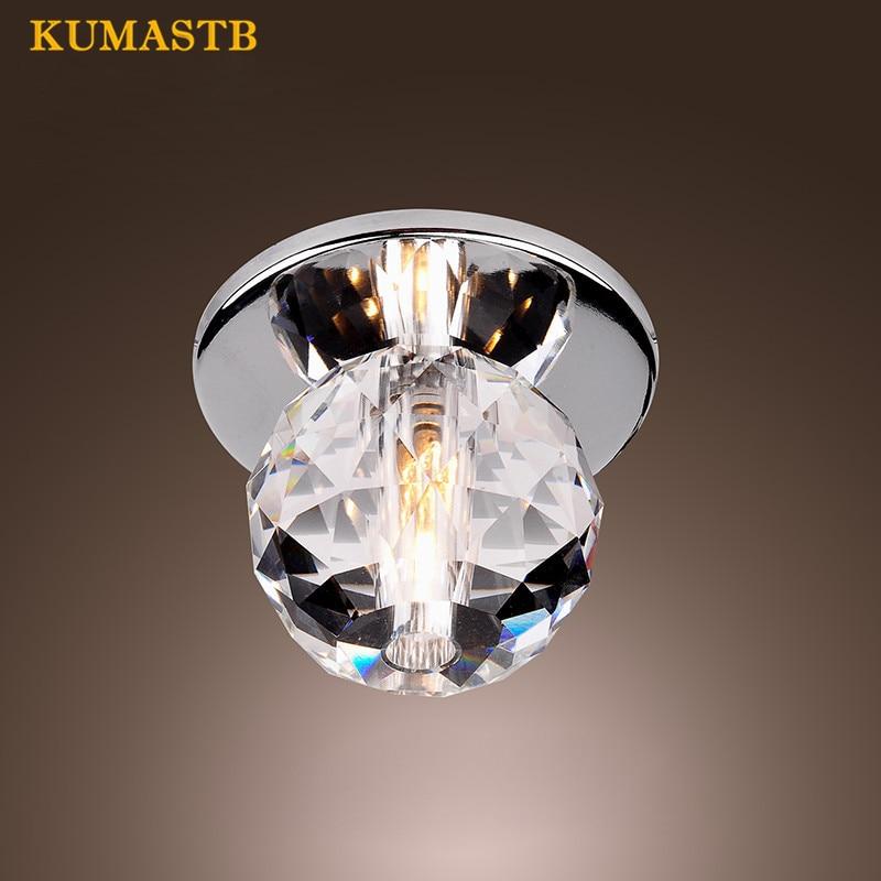 K9 Crystal Ball LED Ceiling Lights Modern Ceiling Lamps Lustre Light Fixtures For Porch Hallway Home Indoor Lighting Decor Lamp