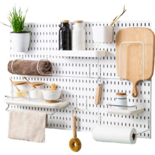 Wall Hole Plate Organizer Holder Tool Hanger Storage Rack Kitchen Bathroom Tool Wall Housekeeper Accessory Hanging Home Decor