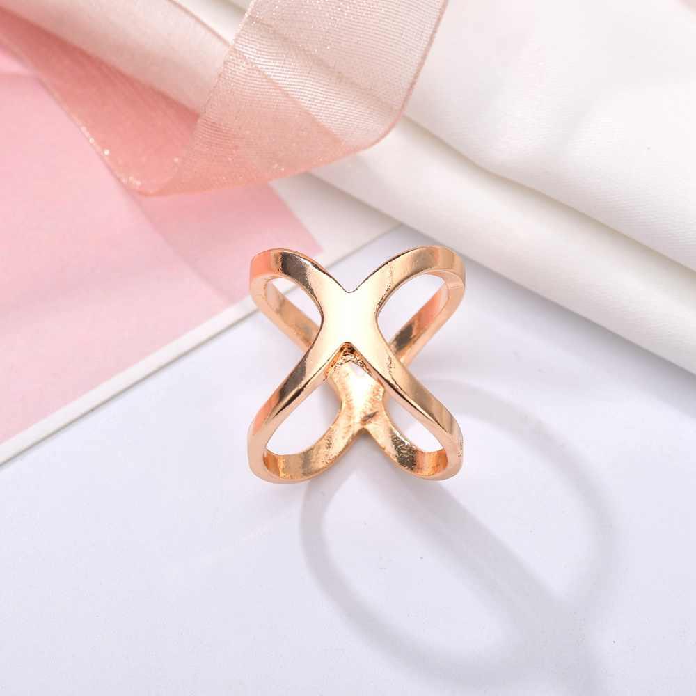 Misscycy Fashion X Bentuk Logam Bros untuk Wanita Sederhana Syal Klip 2019 Baru Pakaian Perhiasan Aksesoris