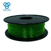 HE3D Flexible Consumables 1.75MM 1Kg PLA filament for 3d printer TPU 3D printing materialMakerBot RepRap UP Mendel