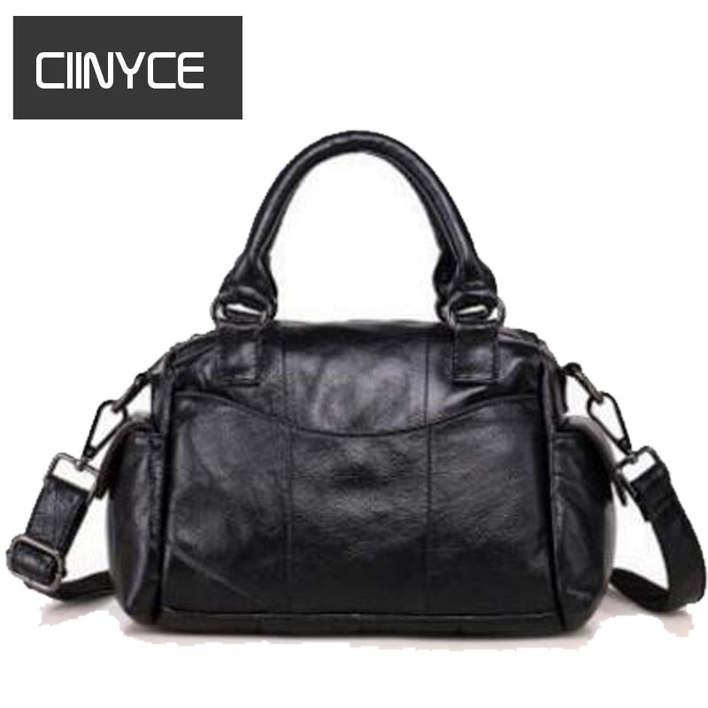 Brand New Fashion Designer Genuine Cow Leather Women's Handbag Small Totes Soft Cowhide Solid Single shoulder crossbody Bags 2017 new casual women shoulder bags famous brand fashion designer handbag solid genuine leather bag totes bolsos mujer