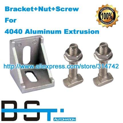 Aluminum bracket M8 20 M8 T Screw Bolt M8 Flange nut 4040 aluminium profile connector accessories
