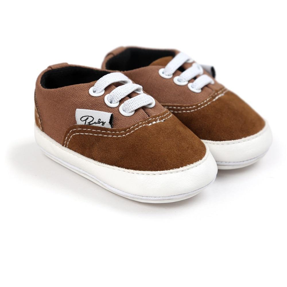 Romirus nuova moda neonate ragazzi scarpe di tela, fondo morbido antiscivolo sui primi camminatori scarpe infantili per l'età del bambino 0 ~ 18mont.CX44C