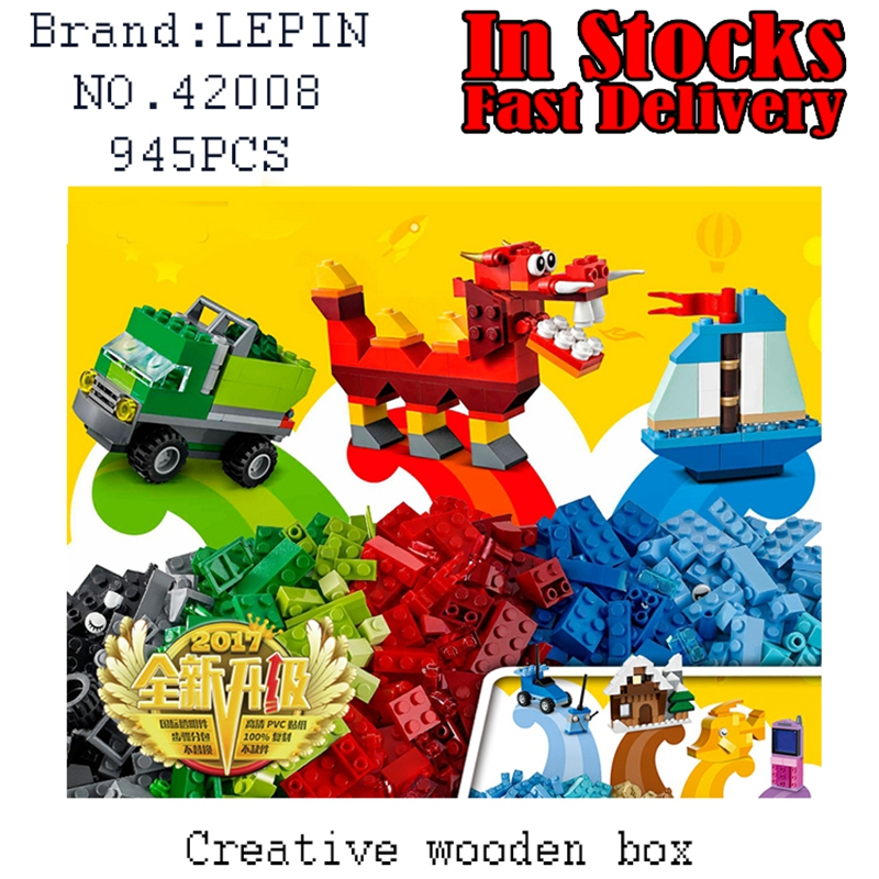 LEPIN Classic Creative wooden bos 42008 945PCS Building Block Brick educational toy for children Christma gifts brinquedos 10704 creative educational toy wooden clock baby kids date learning developmental versatile flap abacus wooden clock toy