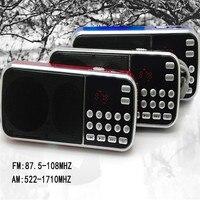 Geschenk Mini Tragbare LCD Digital FM Radio Lautsprecher USB TF AUX Mp3 Musik-player Heißes tropfen-verschiffen 0731
