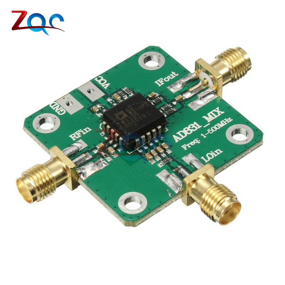 Frequency Converter AD831 Single Chip High Frequency RF Mixer Radio Frequency Conversion Module for HF and VHF Receiver 0.1-500MHz