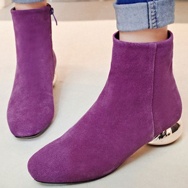 Brand New Women Real Natrual Genuine Leather Ankle Boots