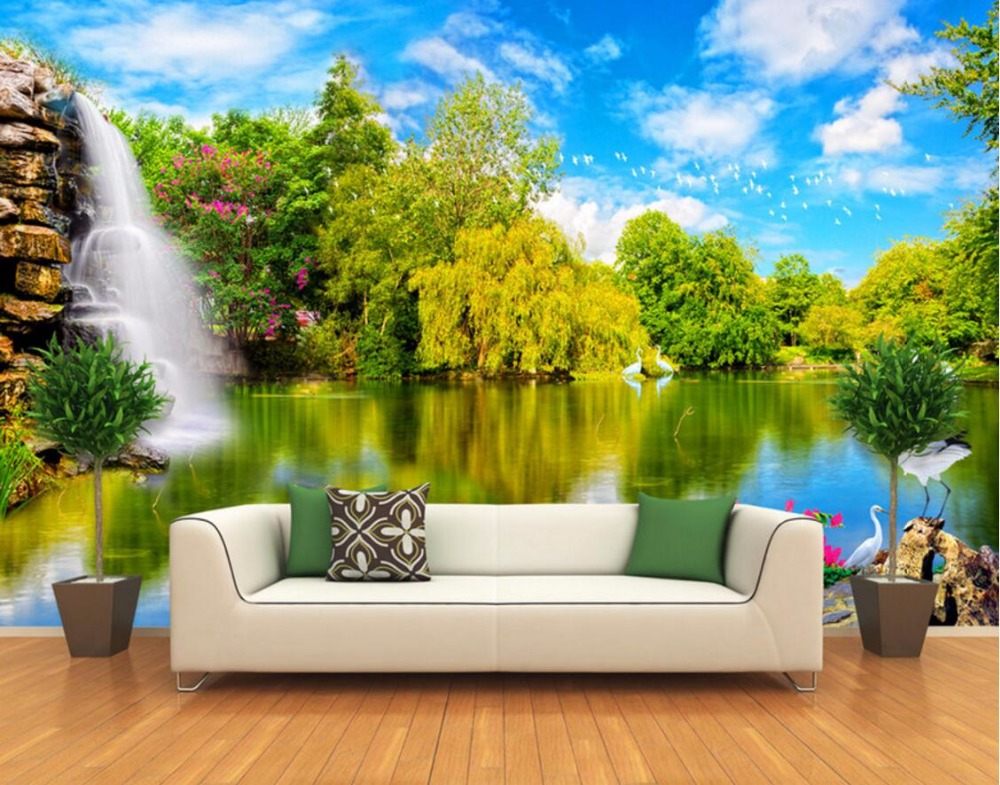 Aliexpress Com Buy Large Custom Mural Wallpapers Living: Aliexpress.com : Buy Custom Mural Photo 3d Room Wallpaper