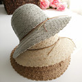 HOT 2017 New Fashion sun hats Summer Openwork lace hat  Beach hat for women ladies Small brim hat cofia de encaje free shipping