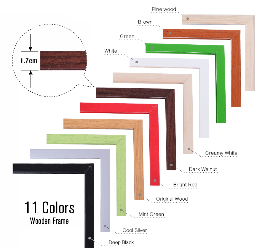 Купить с кэшбэком 45*60cm Double Sides Cork Board Wooden Frame Push Pin Bulletin Board 11 Colors Office Supplier Home Decorative Free Accessories
