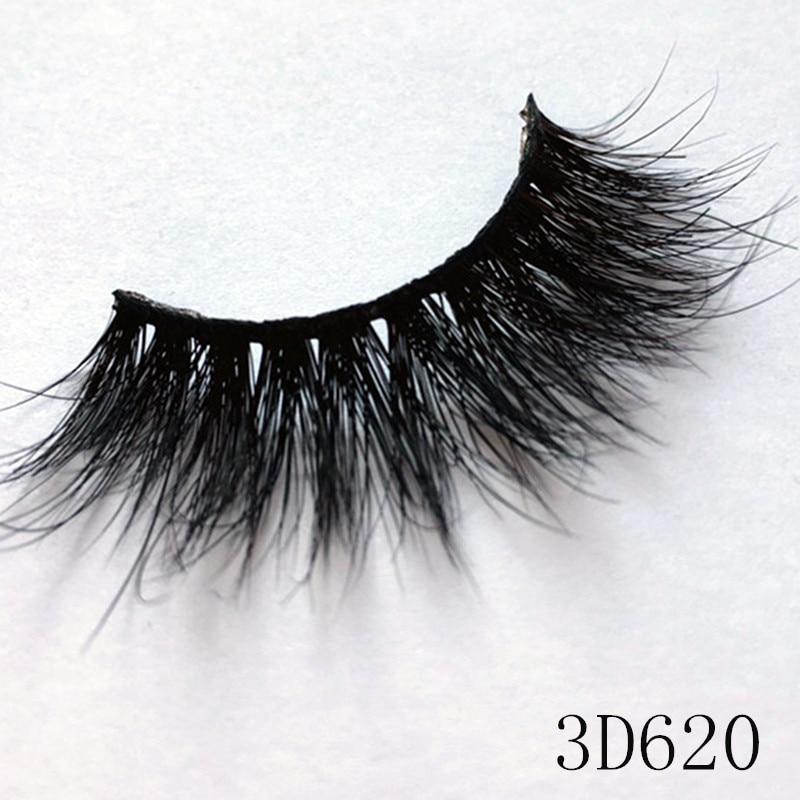 UPS Free Shipping 100 Pairs 100 Real Mink Fur Cheap Pirce Makeup Beauty False Eyelashes 3D