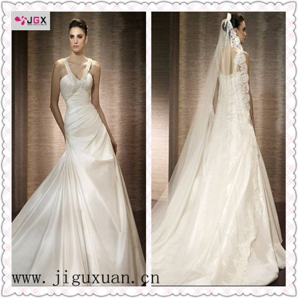 pleats irish lace wedding dresses ,designer wedding gown
