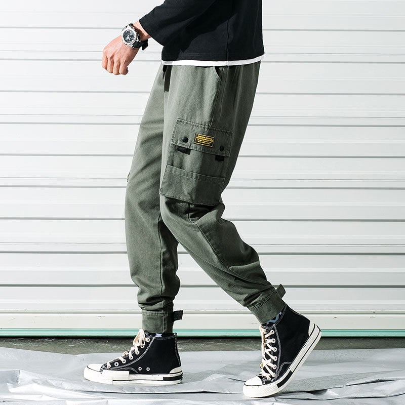 ZOGAA 2019 New French Cargo Men Pants Hip Hop Casual Joggers Pants Large Size Men's Small Feet Sweatpants