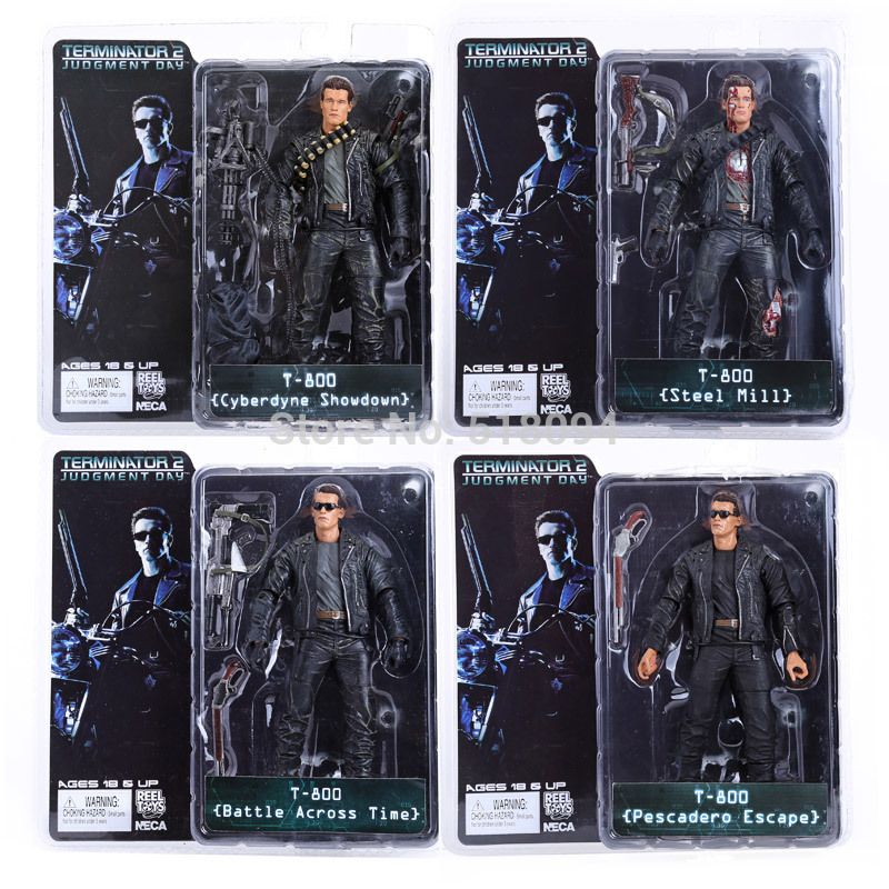 NECA The Terminator 2 T-800 Cyberdyne Showdown Across Time Pescadero Escape Steel Mill PVC Action Figure Collectible Toy 7 18cm
