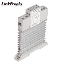 TRA48D40M Integrated Heat Sink Radiator SSR Solid State Relay Din Rail 40A 42-480VAC Out 5V 12V 24VDC In Voltage Control Relay lds 48a50 ssr solid state relay 50a 480vac soft starting motor controllers 3 phase analog power control module voltage relay