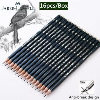 فابر كاستل 16 قطعة/صندوق أقلام للمدرسة باستيل HB 2B 2 H الرسم مجموعة أقلام رصاص Lapiz المهنية Potloden وازم الفن